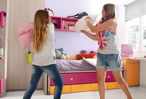 Hermanos que comparten habitación en pocos metros cuadrados ¿es recomendable?