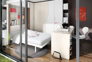 Dormitorio y estudio 2 en 1. Trabajar y descansar en un mismo espacio