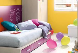 ¿De qué color pintar la habitación de los niños?