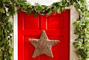 DIY de Navidad. Una estrella decorativa para la puerta