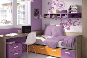 Habitaciones juveniles para chicas. Ellas deciden