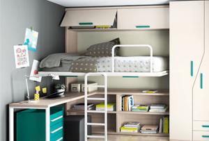 Habitaciones juveniles en espacios pequeños. Nuestras propuestas