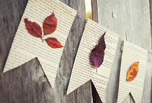 DIY de otoño. Ideas realizadas con hojas secas