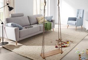 Decoración nórdica para una sala muy fresca y relajante