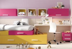 Habitaciones juveniles compactas. Salvando los problemas de espacio