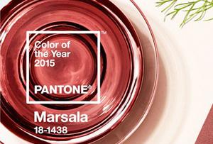 El color Pantone 2015 es Marsala. Un tono con mucho misterio