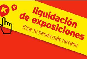 Liquidación de exposiciones de muebles Kibuc 2015