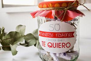 Diy de San Valentín. 50 razones por las que te quiero