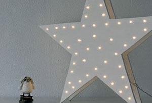 Diy estrella de madera para iluminar la habitación de los niños