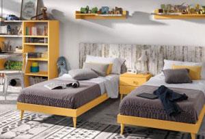 Dormitorios para dos hermanos. Un espacio para crecer juntos y felices