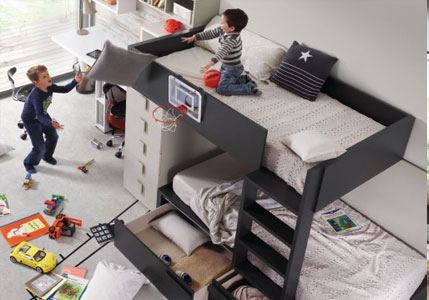 Habitación compartida. ¿Qué prefieres: dos camas, cama nido o literas?