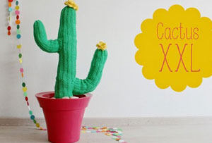 Decorar con un cactus de ganchillo. Una idea con la que no pincharás