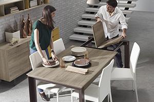 Mesas extensibles para todo tipo de espacios y comensales