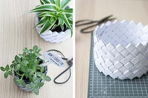 DIY cómo hacer cestas de papel reciclado