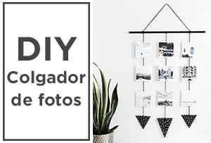 ¡Saca tus fotos a la luz! DIY colgador de fotos