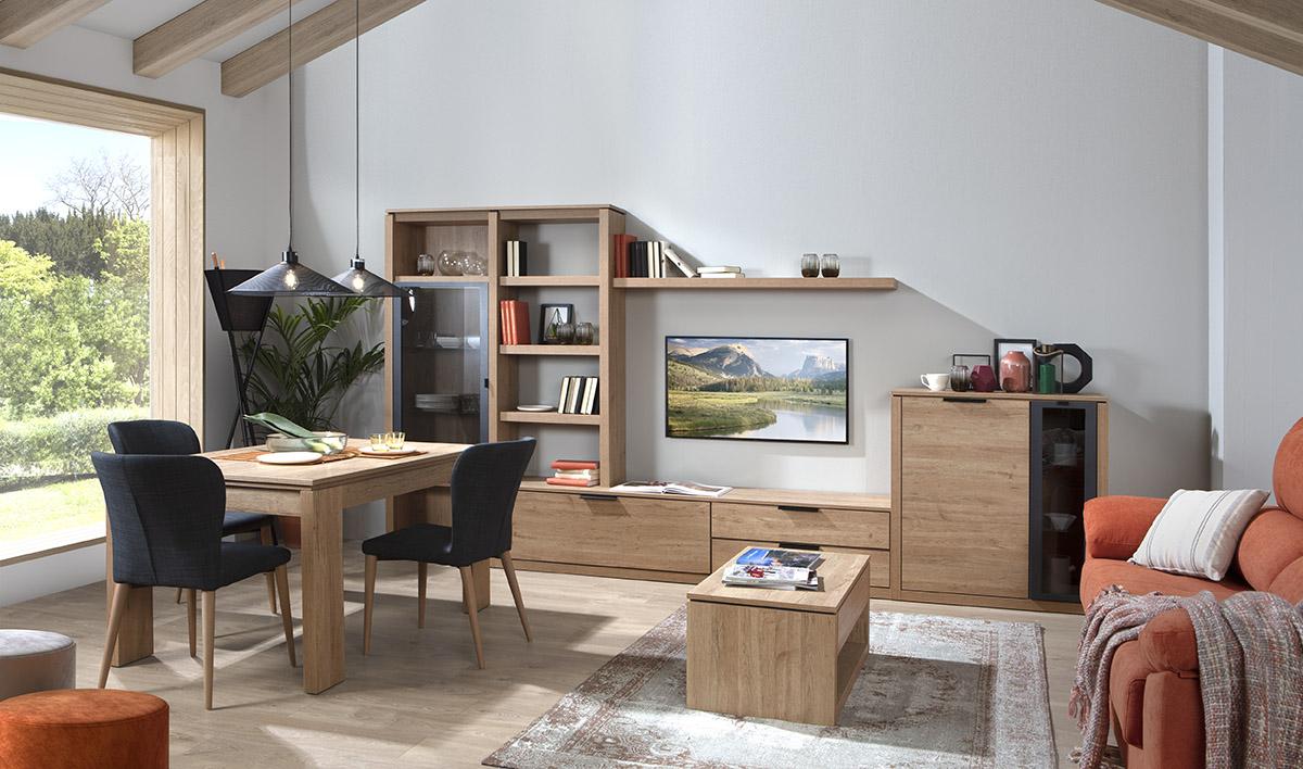 Un mueble de salón pensado para la vida familiar