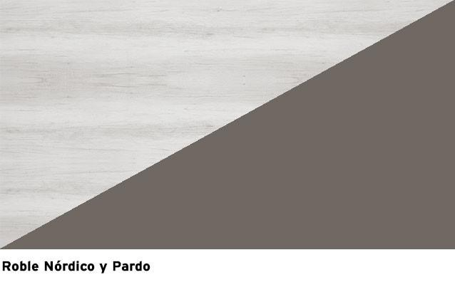 Roble Nordic + Lacado Pardo