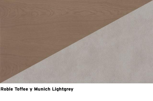 Roble Toffee + Munich lightgrey