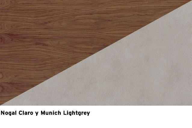 Nogal listado Claro + Munich lightgrey
