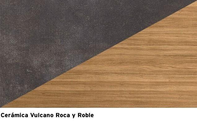 Roble Mesegue + ceramica Vulcano Roca