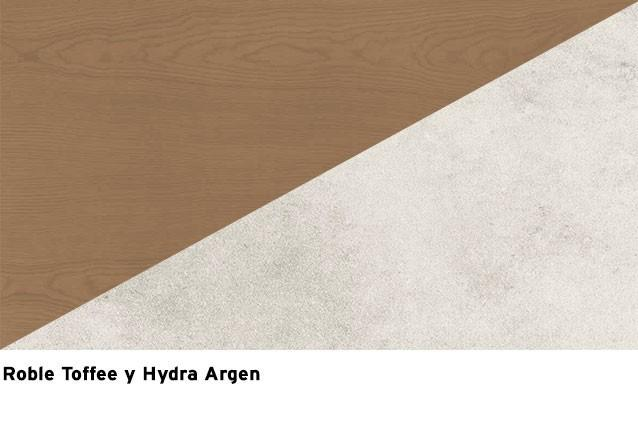 Roble Toffee + Hydra Argen