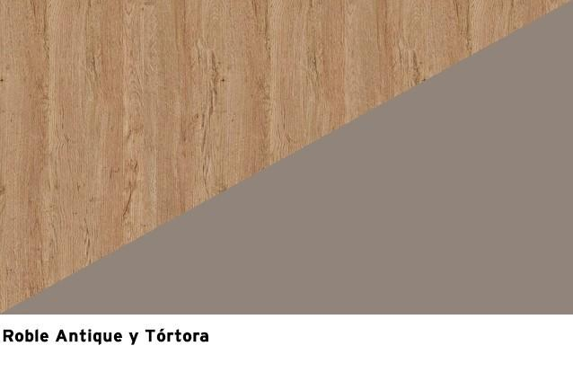 Roble Antique + Lacado Tortora