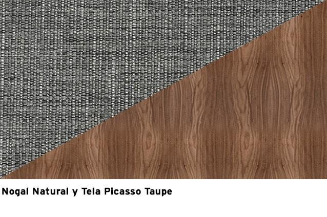 Nogal natural + Picasso Taupe