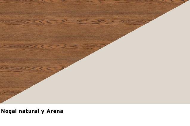 Nogal natural + Laca Arena