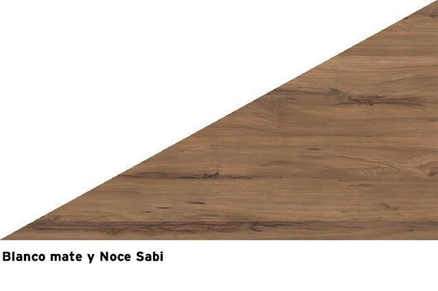Blanco mate + Noce Sabi