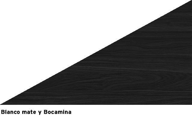 Blanco mate + Bocamina