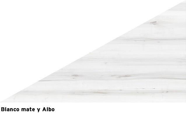 Blanco mate + Albo