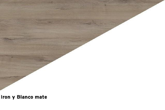 Iron + Blanco mate