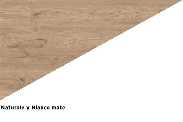 Naturale + Blanco mate