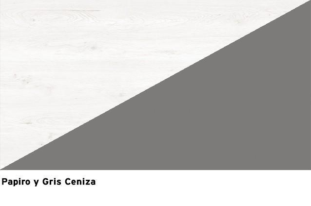 Roble Papiro + Gris Ceniza