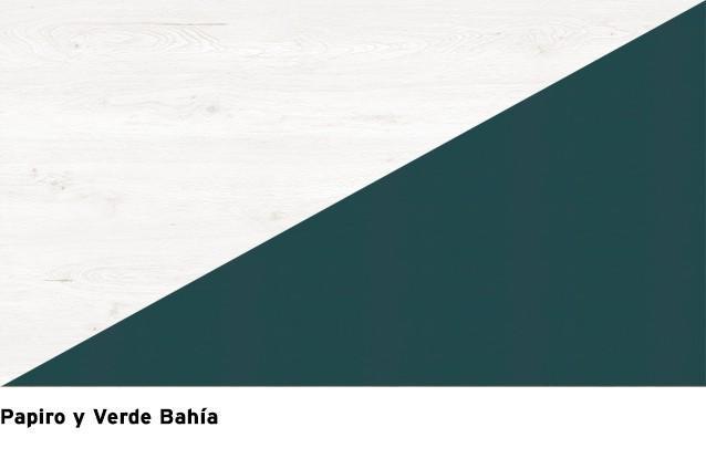 Roble Papiro + Verde Bahía