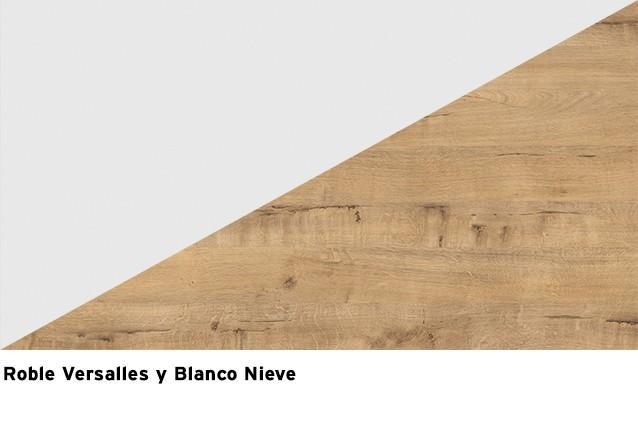Blanco Nieve + Roble Versalles