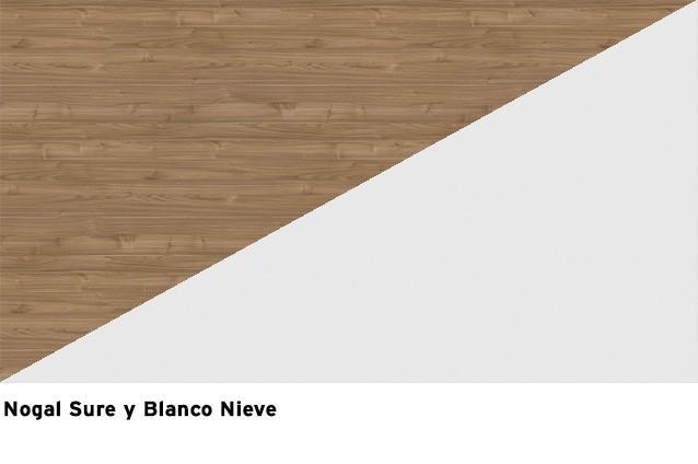 Blanco Nieve + Nogal Sure