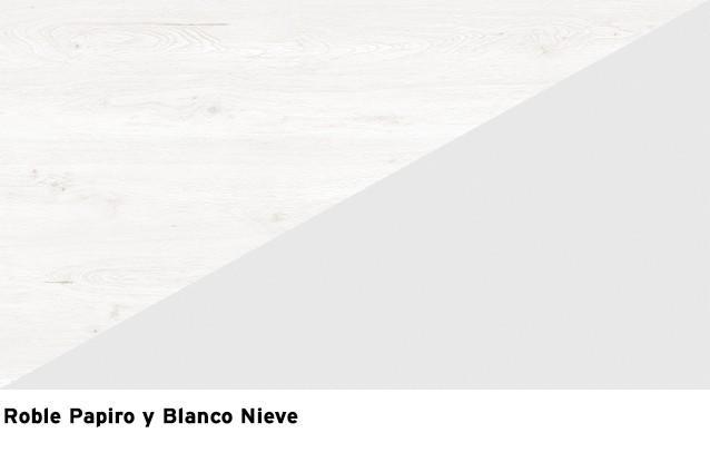Blanco Nieve + Roble Papiro