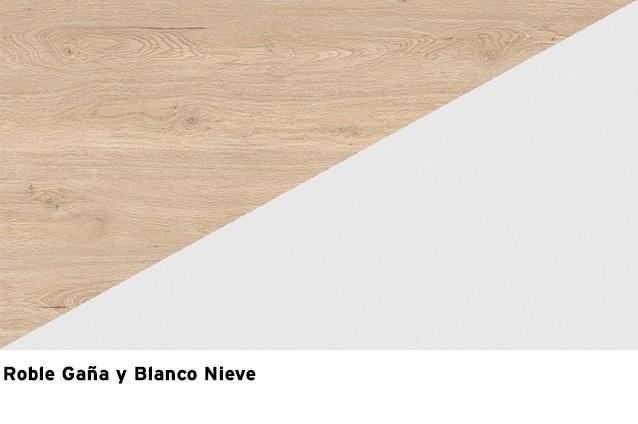 Blanco Nieve + Roble Gaña