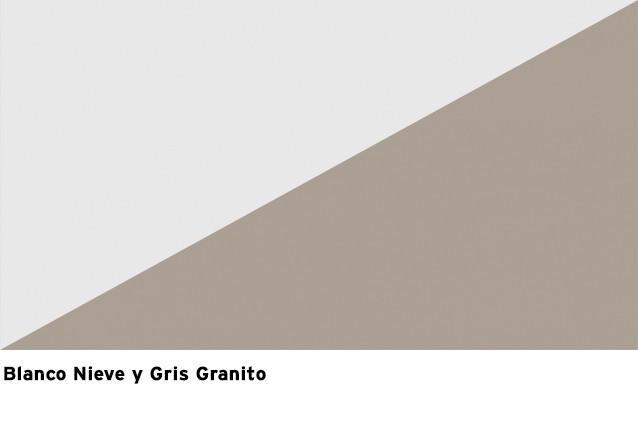 Blanco Nieve + Gris Granito