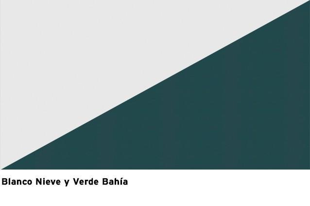 Blanco Nieve + Verde Bahía
