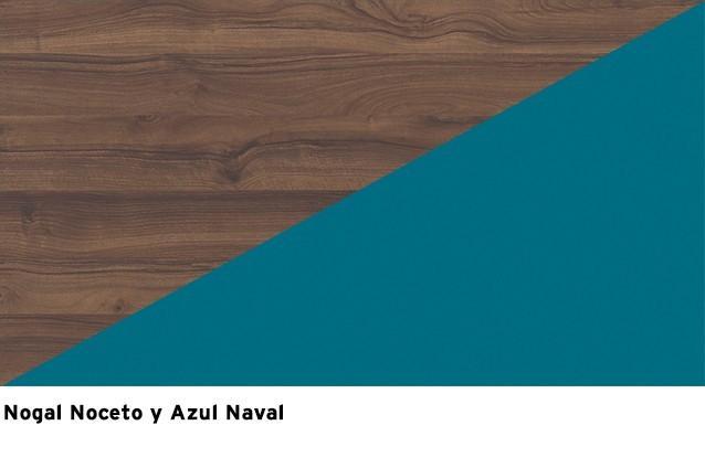 Nogal Noceto + Azul Naval