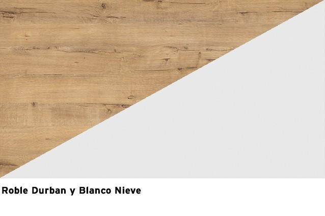 Roble Durban + Blanco Nieve