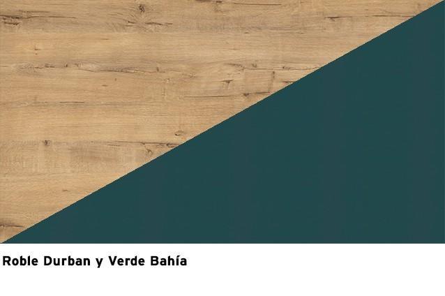 Roble Durban + Verde Bahía