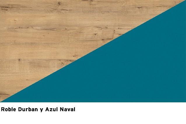 Roble Durban + Azul Naval