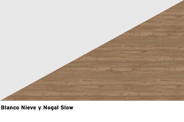 Blanco Nieve + Nogal Slow