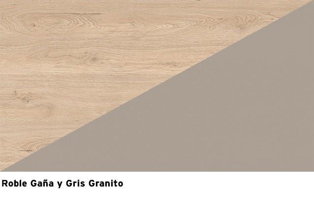 Roble Gaña + Gris Granito