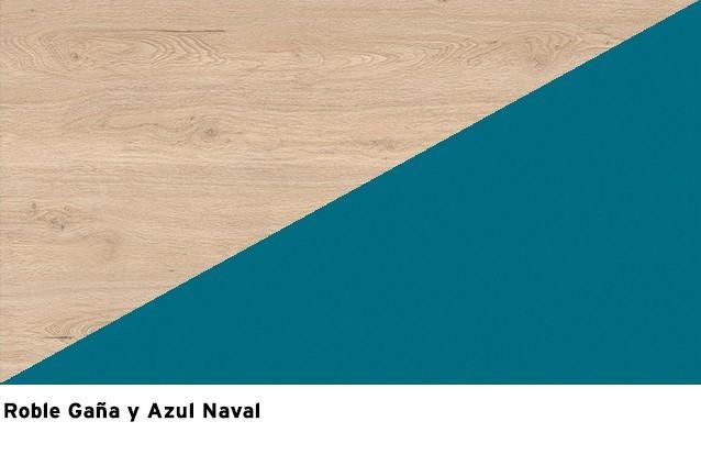 Roble Gaña + Azul Naval
